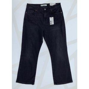 Topshop Jeans - Topshop Dree Cropped Kick Flare Jeans Black 30